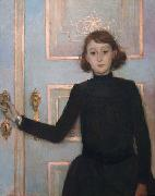 Portrait of Marguerite van Mons who later married Thomas Braun, Theo Van Rysselberghe