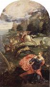 Saint George and the Dragon, Tintoretto
