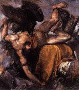 Titian Punishment of Tythus oil painting reproduction