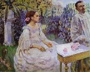 Victor Borisov-Musatov Self-portrait with the sister oil painting