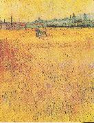 View from the Wheat Fields, Vincent Van Gogh