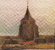 Old Church Tower at Nuenen, Vincent Van Gogh