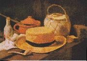 Still Life with Straw Hat, Vincent Van Gogh