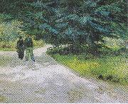 Couple in the Park at Arles, Vincent Van Gogh
