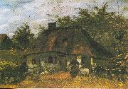 Farmhouse and Woman with Goat, Vincent Van Gogh
