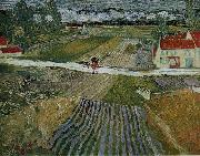 Landscape with a Carriage and a Train, Vincent Van Gogh