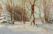 Walter Moras Winter oil painting reproduction