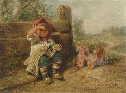 Wilhelm Busch Waiting for friends oil painting