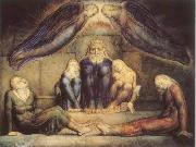 William Blake Count Ugolino and his sons in prision oil painting