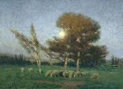 William Bromley Early Moonrise in September oil painting