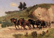 William Cruikshank Sand Wagon. oil painting