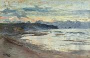William Lionel Wyllie A Coastal Scene at Sunset oil painting