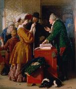 William Mulready Choosing the Wedding Gown oil painting