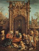 ASPERTINI, Amico The Adoration of the Shepherds oil painting