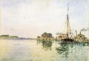 Alfred Thompson Bricher Harbor USA oil painting reproduction