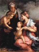 Madonna and Child wiht SS.Elizabeth and the Young john, Andrea del Sarto