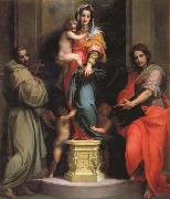 Madonna and Child with SS.Francis and John the Baptist, Andrea del Sarto