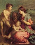 Holy Family with john the Baptist, Andrea del Sarto