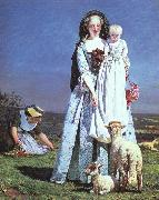 Brown, Ford Madox The Pretty Baa-Lambs oil painting reproduction