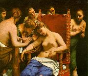 CAGNACCI, Guido The Death of Cleopatra oil painting reproduction