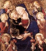 Virgin and Child with Angels f