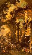 An Allegorical Painting the Tomb of Lord Somers, Canaletto