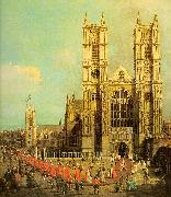 London- Westminster Abbey with a Procession of the Knights of the Bath, Canaletto