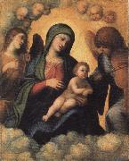 Madonna and Child in Glory with Angels, Correggio