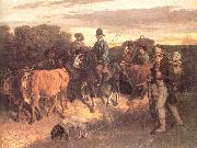 Courbet, Gustave The Peasants of Flagey Returning from the Fair oil painting