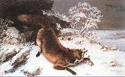 Courbet, Gustave The Fox in the Snow oil painting