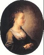 DOU, Gerrit Portrait of a Young Woman oil painting reproduction
