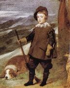 Diego Velazquez Prince Baltasar Carlos in Hunting Dress(detail) oil painting reproduction