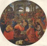 Domenico Ghirlandaio The Adoration of the Magi oil painting