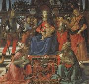 Domenico Ghirlandaio Madonna and Child Enthroned with Four Angels,the Archangels Michael and Raphael,and SS.Giusto and Ze-nobius oil painting