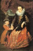 Susanna Fourment and her Daughter, Dyck, Anthony van