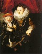 Young Woman with a Child, Dyck, Anthony van