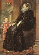 Genoese Noblewoman with her Son, Dyck, Anthony van
