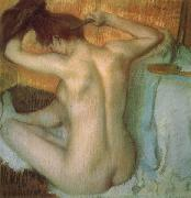 Woman Combing Her Hair, Edgar Degas