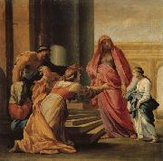 Eustache Le Sueur The Prsent of the Virgin in the Temple oil painting