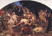 Ford Madox Brown Chaucer at the Curt of Edward III oil painting