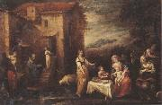 Francisco Antolinez y Sarabia The rest on the flight into egypt oil painting
