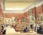Interior of the Gallery of the New Society of Painters in Water Colurs,Old Bond Street