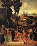 Giorgione Moses' Trial by Fire oil painting