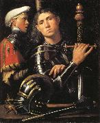 Portrait of a Man in Armor with His Page, Giorgione
