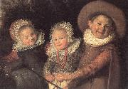 Three Children with a Goat Cart (detail)