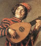 HALS, Frans Buffoon Playing a Lute oil painting reproduction