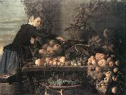 HEUSSEN, Claes van Fruit and Vegetable Seller oil painting artist