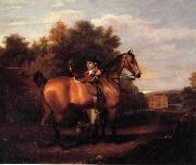 Henry Walton A Gentleman,Said to Be mr Richard Bendyshe with his Favorite Hunter in a Landscape