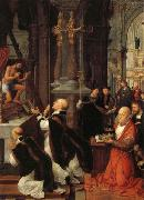 Isenbrandt, Adriaen The Mass of St.Gregory oil painting