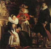 Jacob Jordaens The Artist and His Family in a Garden